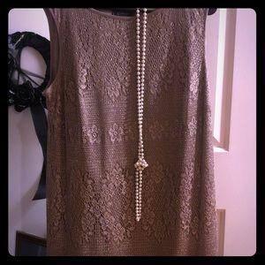 Flapper 14 xl dress costume rose gold color
